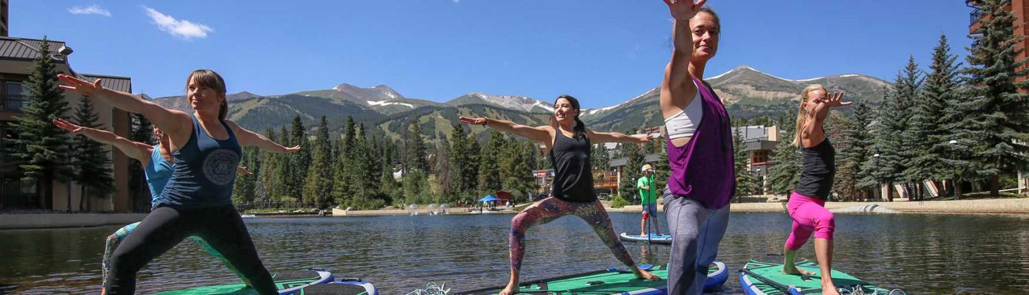 Breckenridge stand up paddle boarding