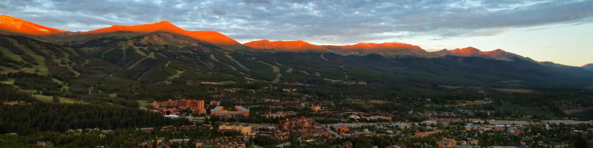 Town of Breck in summer