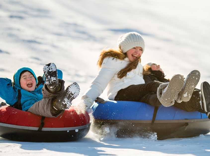 Tubing and sledding in Breck